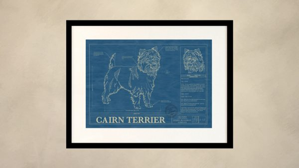 Cairn Terrier Dog Wall Blueprint