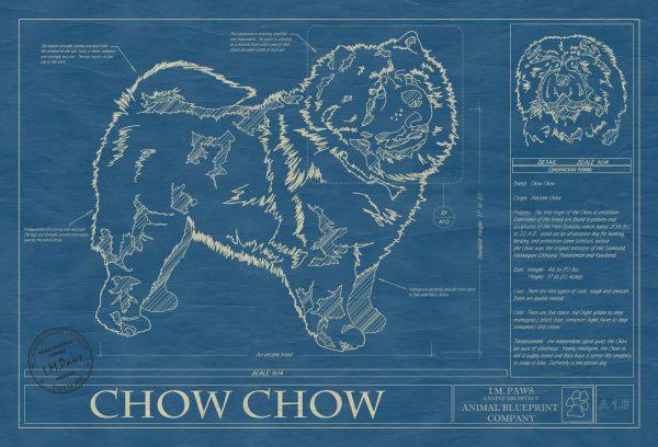 Chow Chow Dog Blueprint