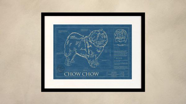 Chow Chow Dog Wall Blueprint