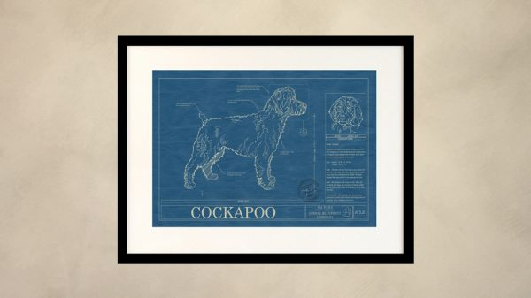 Cockapoo Dog Wall Blueprint