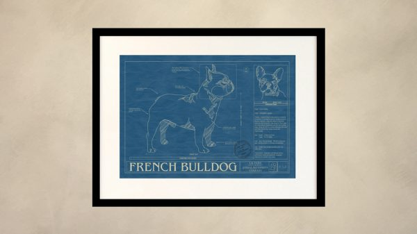 French Bulldog Dog Wall Blueprint