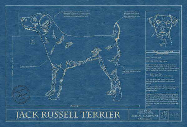 Jack Russell Terrier Dog Blueprint