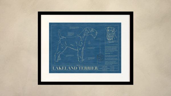 Lakeland Terrier Dog Wall Blueprint