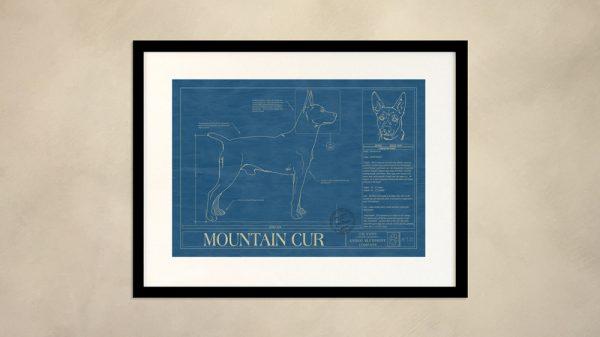 Mountain Cur Dog Wall Blueprint