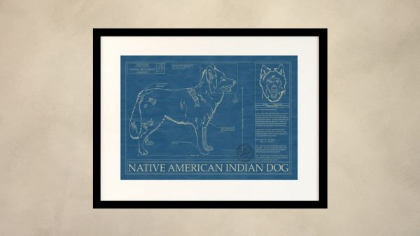 Native American Indian Dog Wall Blueprint