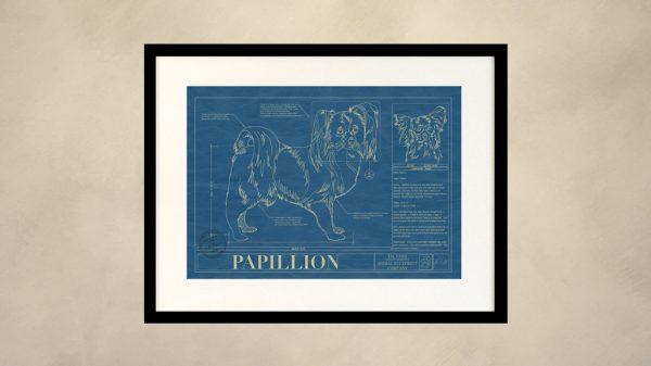 Papillion Dog Wall Blueprint
