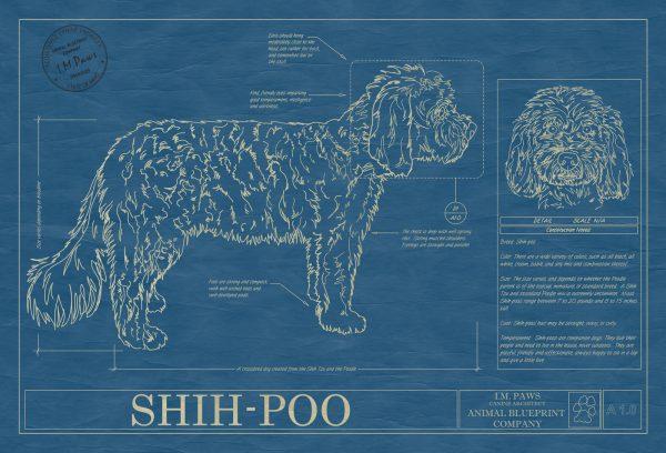 Shih-Poo Dog Blueprint