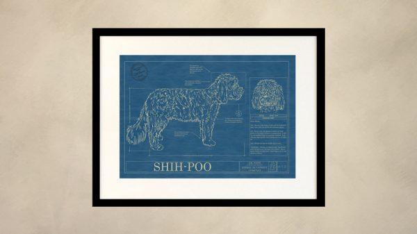 Shih-Poo Dog Wall Blueprint