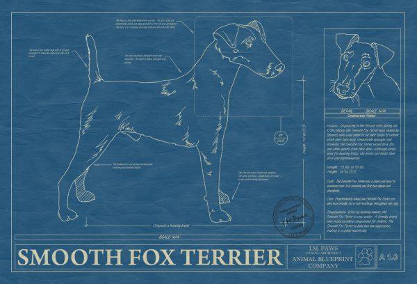 Smooth Fox Terrier Dog Blueprint