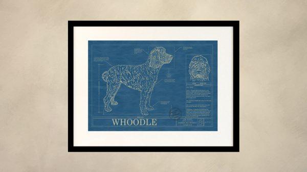 Whoodle Dog Wall Blueprint