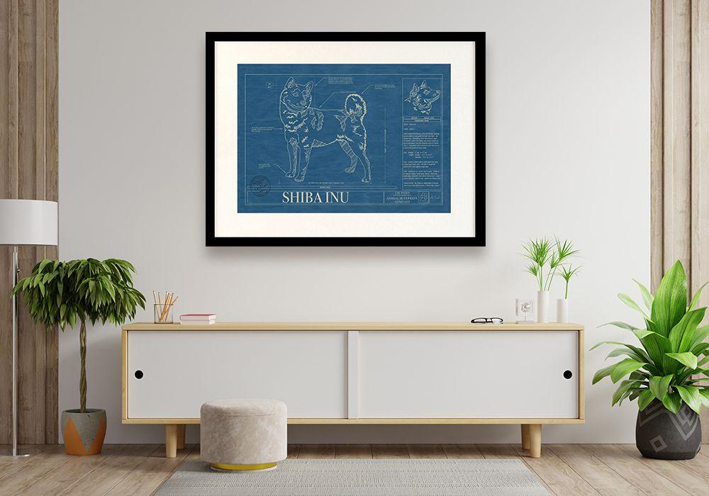 Shiba Inu_blueprint_wall_art